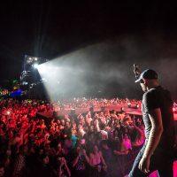 Cole Swindell performing at Crash My Playa