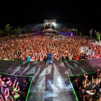 View of crowd from main stage at Crash My Playa