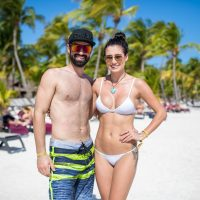 Couple in bathing suits at Crash My Playa