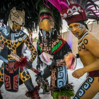 Tribal men with body paint